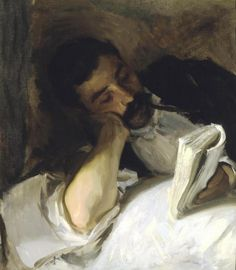 Man Reading (Nicola d'Inverno) John Singer Sargent