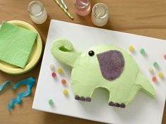 This cake is so versatile—think jungle-themed birthday, baby shower or circus party. It's super cute and easy to make thanks to our cake-cutting template.