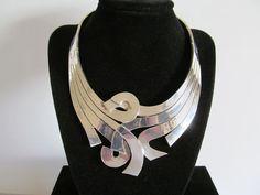 Los Ballesteros Taxco Sterling Silver Choker Necklace