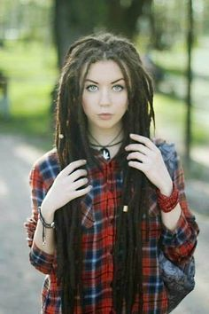 dread with bangs - Google Search