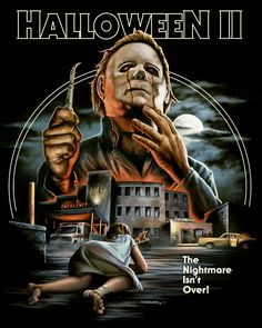 Halloween II [Blu-Ray, 1 of 43 high-resolution movie posters in this group. Classic Movie Posters, Classic Horror Movies, Michael Myers, Halloween Film, Halloween 2 1981, Halloween Horror, Rock Poster, Slasher Movies, Horror Artwork