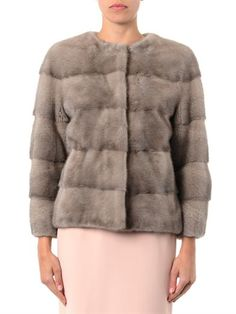 Lilly E Violetta Sarah bi-colour mink fur jacket