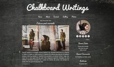 Pre-Made Wordpress Theme  'Chalkboard Writings'
