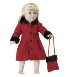 red winter coat american girl discounted clothes