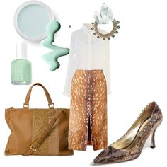 """""""Caramel and mint"""" by runway2street on Polyvore"""