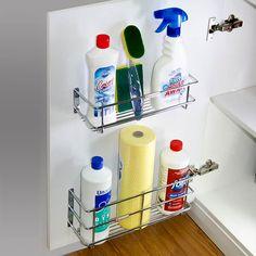Door Mount Rack #kitchenstorage #kitchenorganization #stainlesssteel #storagesolutions