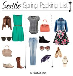What to Pack for Seattle, WA in the Spring. Great ideas!