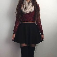 Black Skirt Outfits, Mode Outfits, Girly Outfits, Cute Casual Outfits, Pretty Outfits, Stylish Outfits, Stylish Clothes, Winter Fashion Outfits, Cute Fashion