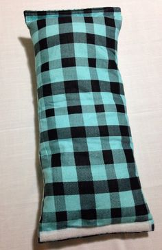 Aqua Rainbow and Plaid Arm Pillow / Travel Pillow by Craftiemommy