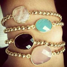 @fashion_and_stuff | Gorgeous gemstone bracelet set from @loveleekzdesigns !! Check out all her am... | Webstagram - the best Instagram viewer