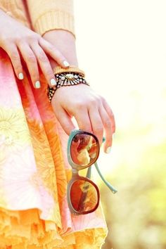 warm colours and sunglasses
