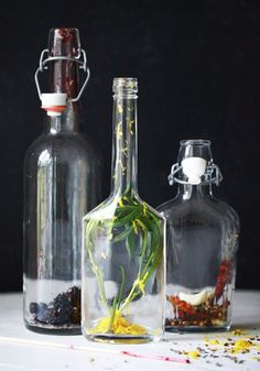 Infused vinegars from www.designsponge.com
