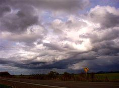 2005 Storm clouds over Peoria Road