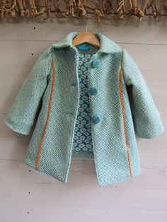baby coat in mint Trendy Baby Girl Clothes, Girls Designer Clothes, Winter Baby Clothes, Baby Kids Clothes, Baby Outfits, Dress Up Outfits, Kids Outfits, Girls Winter Fashion, Winter Outfits For Girls