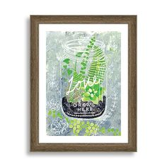 """Minted for West Elm, Love Grows Here, 11""""x14"""" - $99 (less 20% is $79.20)"""