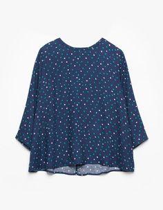 Print blouse with zip detail - SHIRTS - WOMAN | Stradivarius Croatia