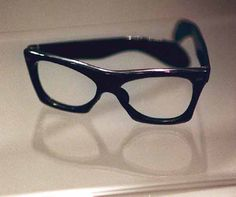 Buddy Holly's last pair of glasses. FAOSA, on display at the Buddy Holly Center - Lubbock Texas  http://faosaeyewear.com/Legends_In_Faosa_Eyeglasses.html