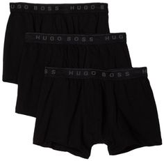 HUGO BOSS Men's Boxer 3 Pack, Black, Large - 3 pack boxer Product Features  100% cotton All black