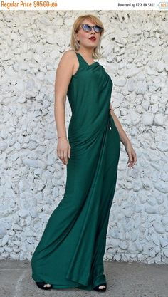 355b788235b5e Extravagant Forest Green Jumpsuit Dress