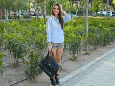 Camo shorts and denim shirt #camo #shorts #denim #shirt