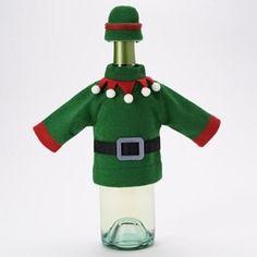 Elf Wine Bottle Cover, Elf Outfit for Wine Bottle Food Ne... https://www.amazon.com/dp/B00R51MGC2/ref=cm_sw_r_pi_dp_GKVIxb5PK0P0X