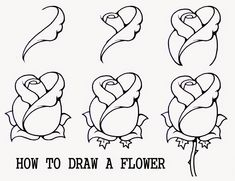 easy drawing draw drawings step shapes flower pencil rose flowers roses steps natural simple using beginners tutorial carol discover tutorials