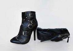Giuseppe Zanotti for Balmain buckle ankle boots