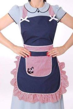 Toddler / Children Apron Personalized Handmade Denim and Accent Fabric of Choice Embroidery Applique With Ruffles Pockets and Rickrack Sewing Aprons, Sewing Clothes, Diy Clothes, Sewing Rooms, Retro Apron, Aprons Vintage, Vintage Apron Pattern, Jean Apron, Denim Crafts
