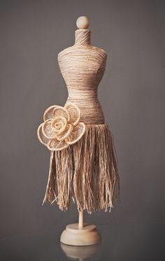 How to make a mini dress form :-) | Craft show ideas! | Pinterest ...