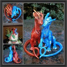 Wedding Cake Topper Dragons 2, Amy Antika Naylor, SciFi Fantasy Art