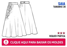 Confira o molde para fazer uma blusa e uma saia longa como as da Luiza Brunet - Faça e use - Moda - MdeMulher - Editora Abril