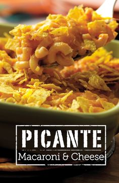 This version of macaroni and cheese gets a boost of flavor from picante sauce and tortilla chips.