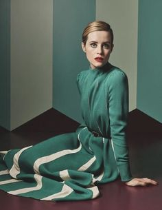 The Crown actress Claire Foy in Valentino photographed by Craig McDean for Vogue UK, November 2017.