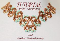 Tutorial for Hera necklace with Superduo Pellet by DESIBEADS