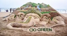 #Ganpati goes #Green, #Brown and #Saffron in 2015.  #gogreen #ganeshchaturthi #ecofriendly #festival #lord