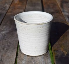 hand crafted pottery with a speckled stoneware glaze by TimFennaCeramics on Etsy Handmade Ceramic, Handmade Gifts, Small Potted Plants, Herb Pots, Window Sill, Stoneware, Glaze, Herbs, Pottery