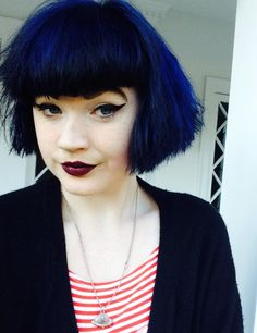 Pictures of black hair green bangs - Dark Blue Hair, Black Hair, Hair Color Balayage, Blonde Balayage, Cute Hairstyles For Short Hair, Short Hair Styles, Blonde Gif, Hair Color Pink, Green Hair