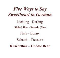 Sweetheart auf Deutsch
