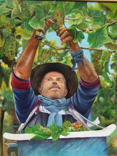 Otro cuadro de Isabel Gallardo Codelia- Serie Viñas de Chile