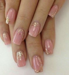 Adding some glitter nail art designs to your repertoire can glam up your style within a few hours. Check our fav Glitter Nail Art Designs and get inspired! Gel Nail Art Designs, Short Nail Designs, Beautiful Nail Designs, Beautiful Nail Art, Beautiful Bride, Nail Art Pastel, Gold Nail Art, Glitter Nail Polish, Nail Polishes
