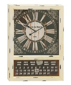 Look at this French Calendar & Clock on #zulily today!