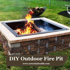 Sunnydaze Square Heavy Duty Fire Pit Rim/Liner, DIY Fire Pit Above Or  In Ground, Steel