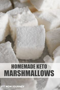 "I've tried quite a few premade ""keto marshmallows"" but none are as good as my Homemade Keto Marshmallows Recipe.  These simple to make treats are extremely easy, require only 4 ingredients, and are wonderfully fluffy and stretchy."