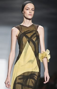 Fashion from the Vera Wang Spring 2014 collection is modeled on Tuesday, Sept. 10, 2013 in New York.