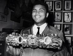 Muhammad Ali.  Spoils of war in the boxing ring.