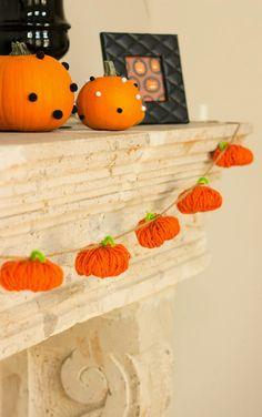 毛糸をぐるぐるするだけ!ハロウィン向け♡かぼちゃガーランドの作り方 | iemo[イエモ] | リフォーム&インテリアまとめ情報 ハロウィン