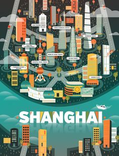 Map of Shanghai - Cosmópolis / Revista Aire by Aldo Crusher,