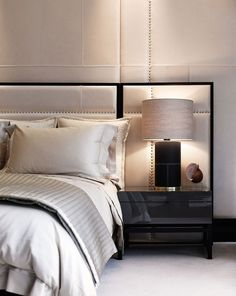 Serene and sophisticated. I love this contemporary bedroom!