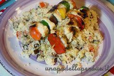 couscous di verdure con spiedini di pollo 13