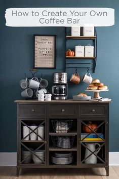 Coffee bar ideas for your kitchen! ✨ Tap the image to read today's blog on how to create your own coffee bar. ☕️ Decor, Home Kitchens, Coffee Bar, Kitchen Decor, Home And Living, Coffee Bar Home, Modern Kitchen, Kitchen Buffet, Home Decor